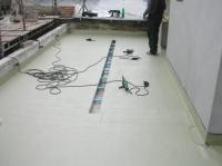 izolace terasy s odvodným žlabem