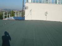 rekonstrukce asfaltové střechy - rozvodna Řípov