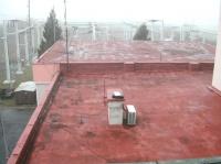 rekonstrukce polyuretanové střechy - rozvodna Řípov