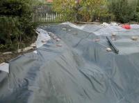 izolace zahradního jezírka - Budišov